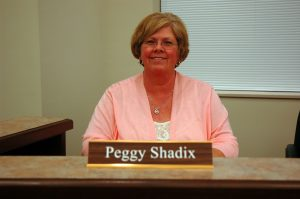 Town Clerk Peggy Shadix